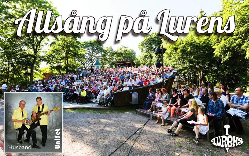 Allsång på Lurens fredagen den 8 juli